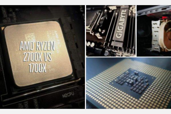 AMD Ryzen 2700x vs 1700x