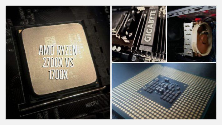 AMD Ryzen 2700x vs 1700x