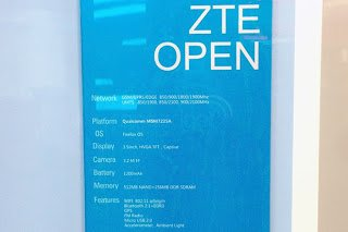 Spec Leak for ZTE With Firefox OS at MWC 2013