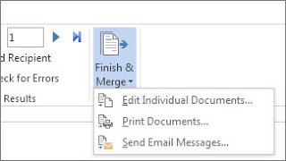 How to do a Mail Merge with Office 2016