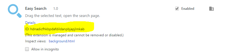 Remove Chrome Extensions Installed by Enterprise Policy