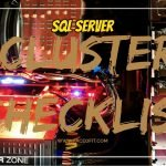 SQL Server Failover Cluster Checklist