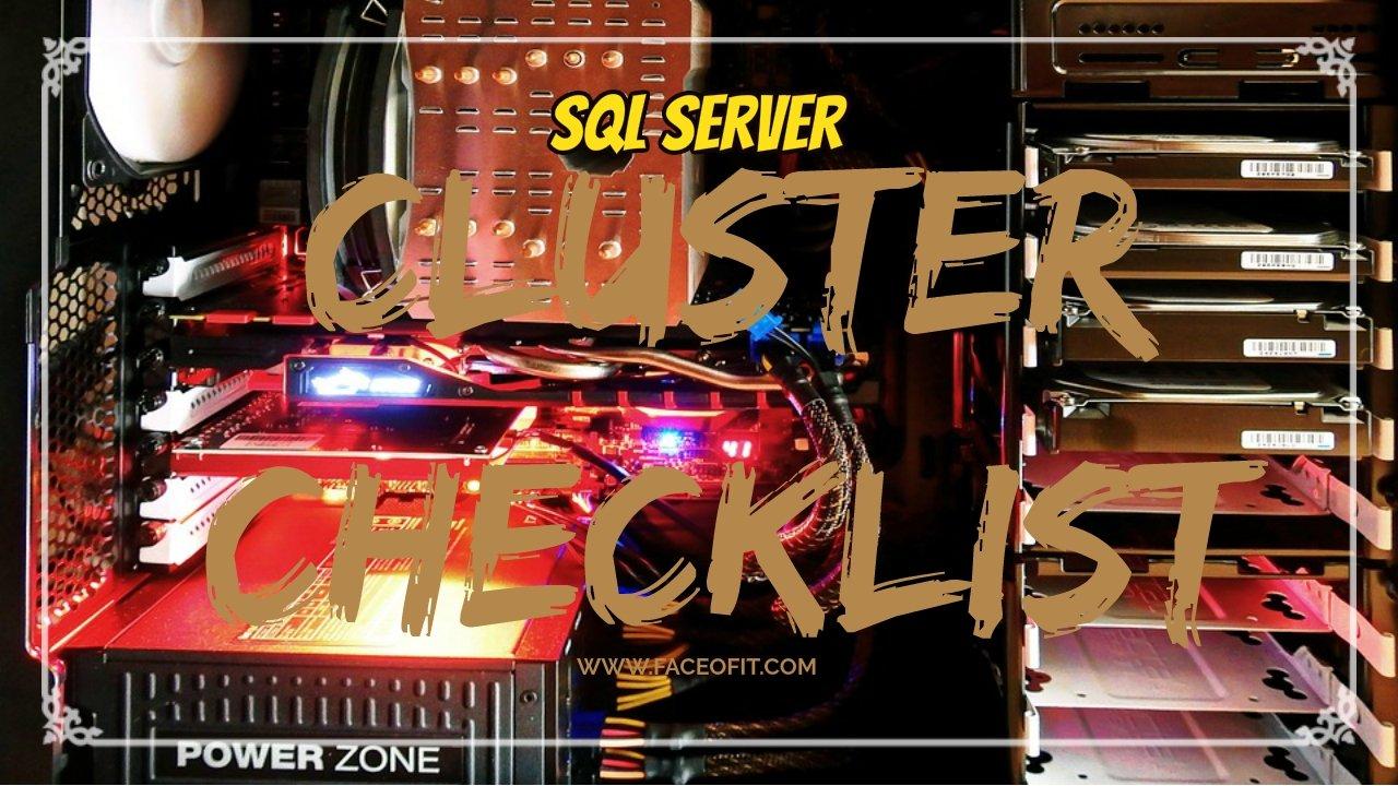SQL Server Failover Cluster Checklist