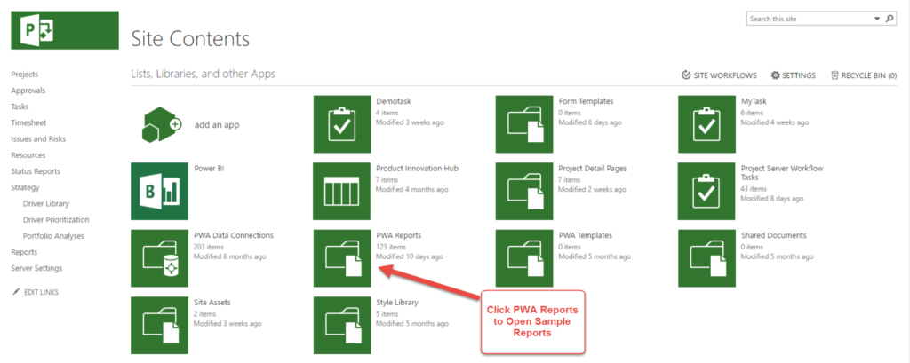 Business Intelligence Reporting in Project Online with Power BI and