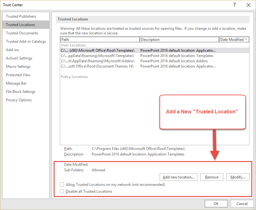 How to Disable Protected View in Office 2016