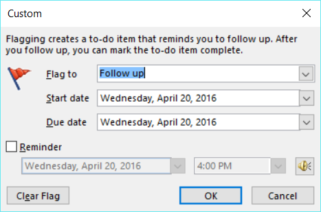Outlook 2016 Keyboard Shortcuts