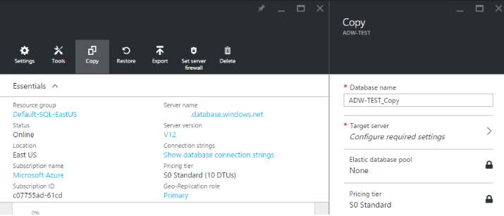 How to Backup your Azure SQL Database