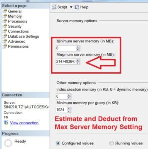 How to Configure SQL Server Memory Options for Best Practices
