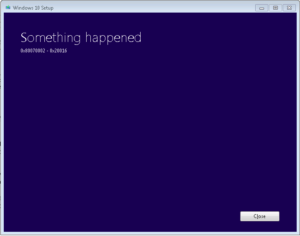 "Resolve and Fix Error ""something happened 0x80070002 - 0x20016"""