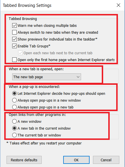 How to Enable Tabbed Browsing in Internet Explorer 11 on Windows