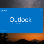 How to Resolve Outlook 2016 Stuck on Processing Screen in Windows 10