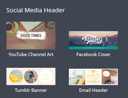 Social Media Banner with FotoJet