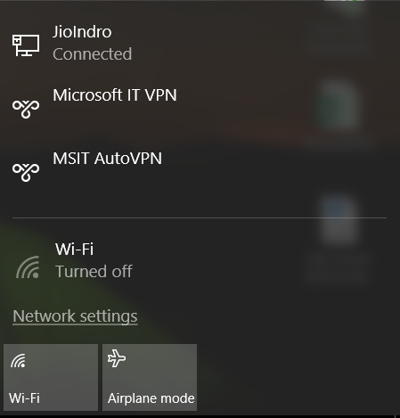 windows was unable to connect jiofi