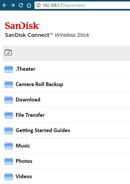 Configure Sandisk Connect WiFi USB Stick To a PC