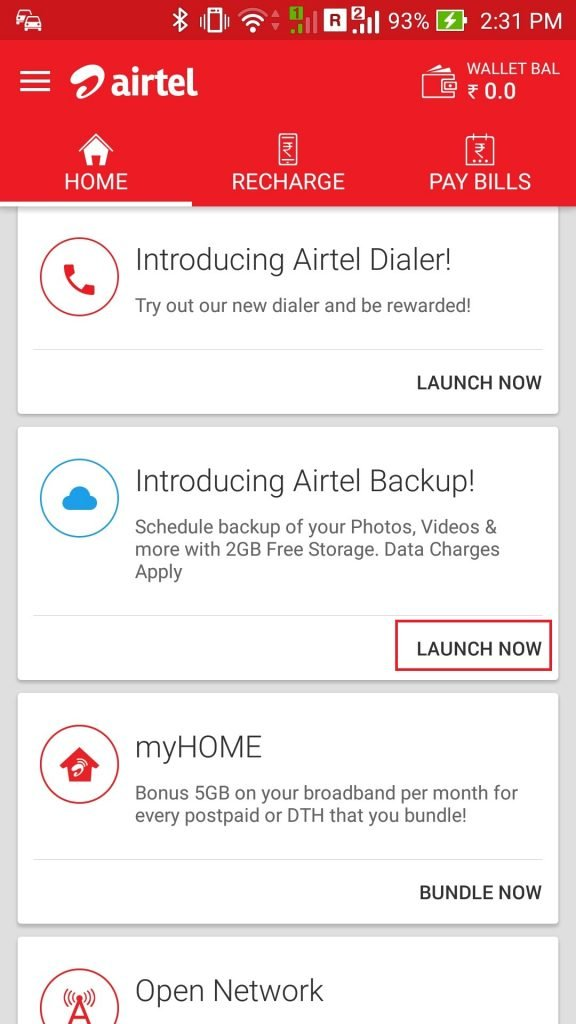 Backup Your Airtel Phone