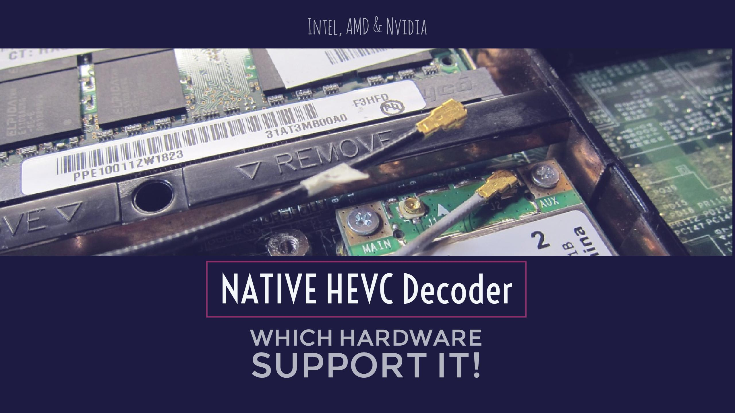Intel & AMD CPUs and Nvidia GPUs That Support NATIVE HEVC Decoder