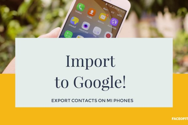 Export Contacts on Xiaomi Mi Phones