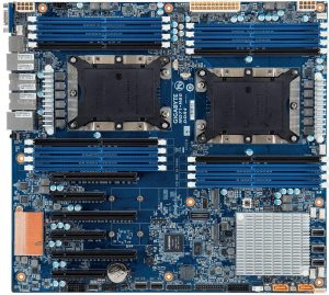 GIGABYTE Extended ATX Server Motherboard 2 x LGA 3647 Socket P0 Intel C622 Model MD71-HB0
