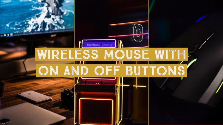 Wireless Mouse with On and Off Buttons