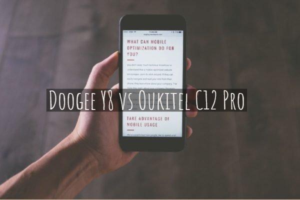 Doogee Y8 vs Oukitel C12 Pro