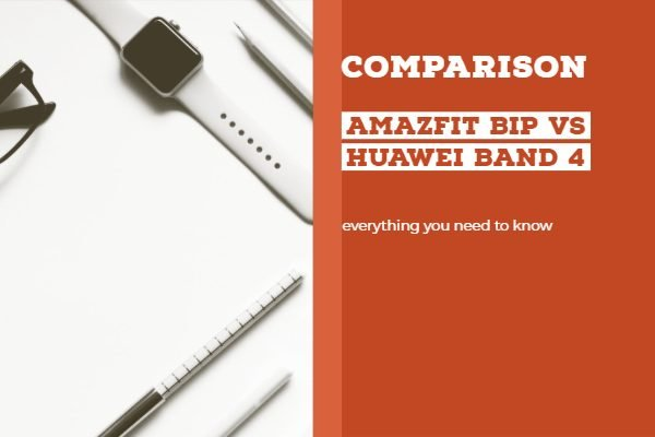 Amazfit Bip vs Huawei Band 4